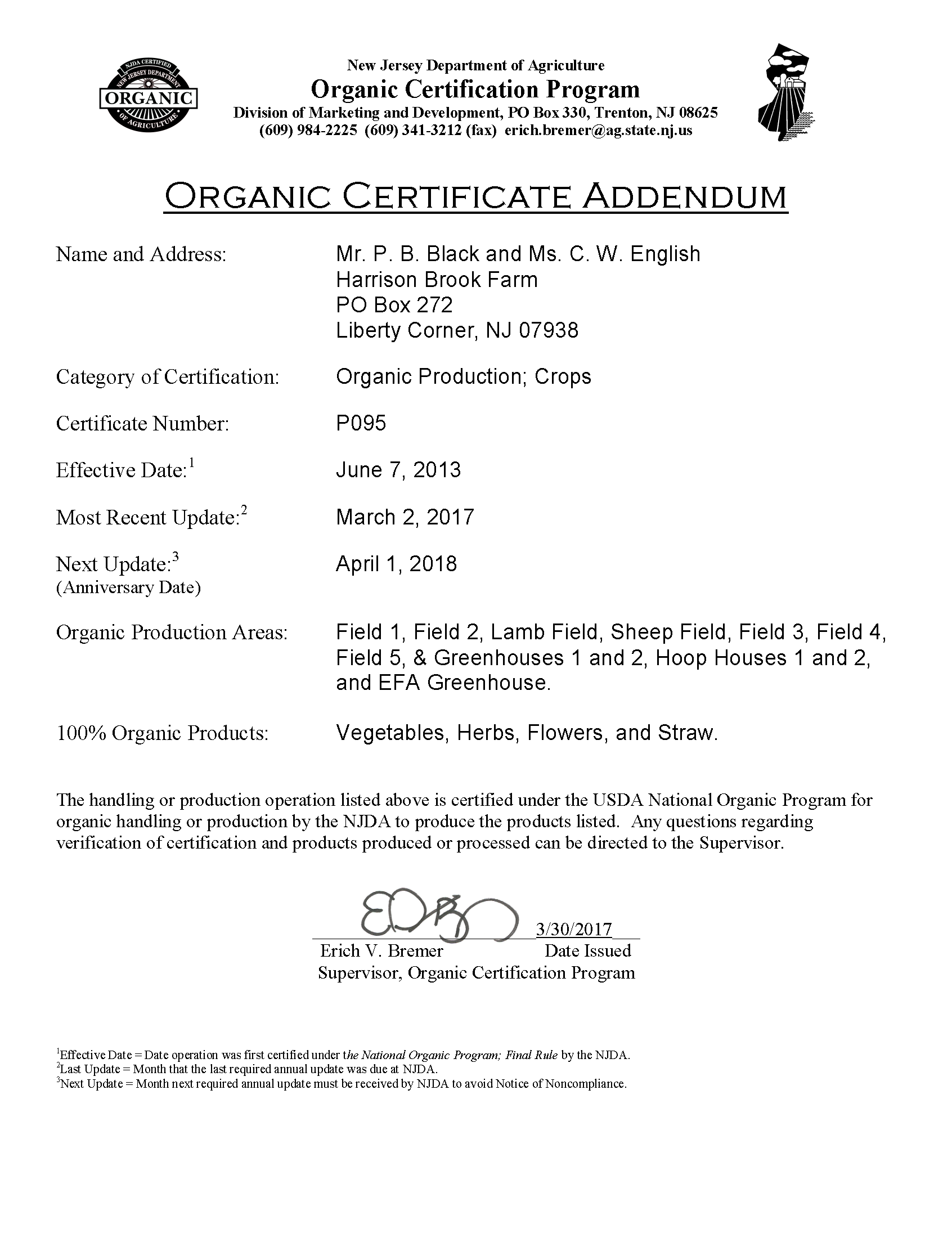 Home the certification occurred the first year we applied in 2013 as we earned the status for organic crops since then we have maintained our certification each xflitez Image collections